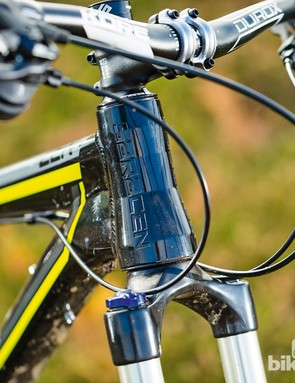 Saracen Zen: The addition of a longer travel fork slackens the head angle by half a degree