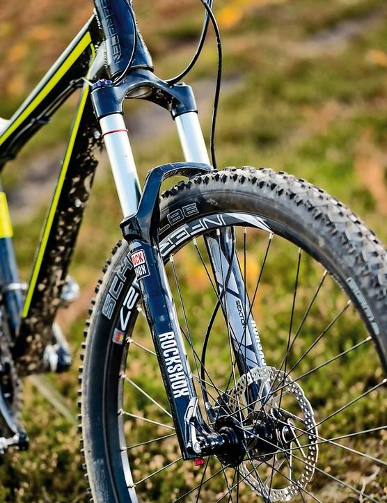 Saracen Zen: Completing the suspension spec is a RS Sektor fork