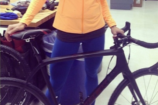 Trek's new carbon fiber cyclocross bike was inadvertently revealed in this Instagram photo