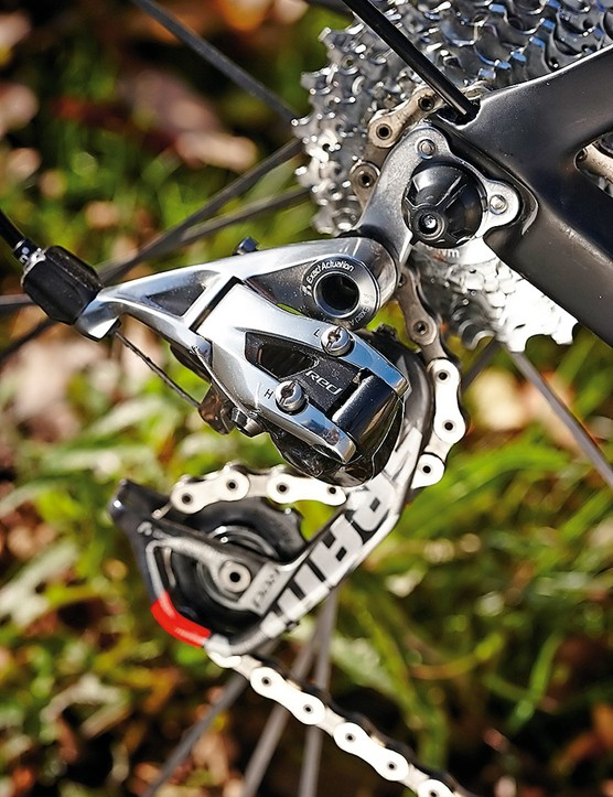 Even though it's not the latest 22-speed setup, the SRAM Red groupset is still one of the lightest around