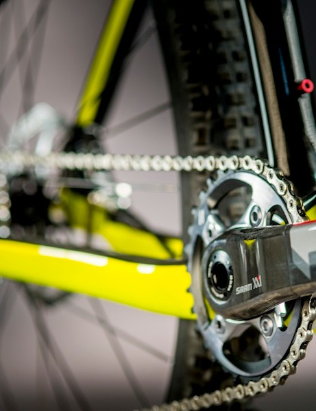 The One 9 RDO can also be set up with a 1x drivetrain, such as SRAM's XX1 (shown) or X01 groups