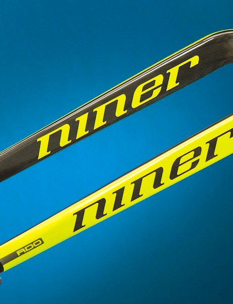 Niner's RDO carbon fork is also available in blaze yellow
