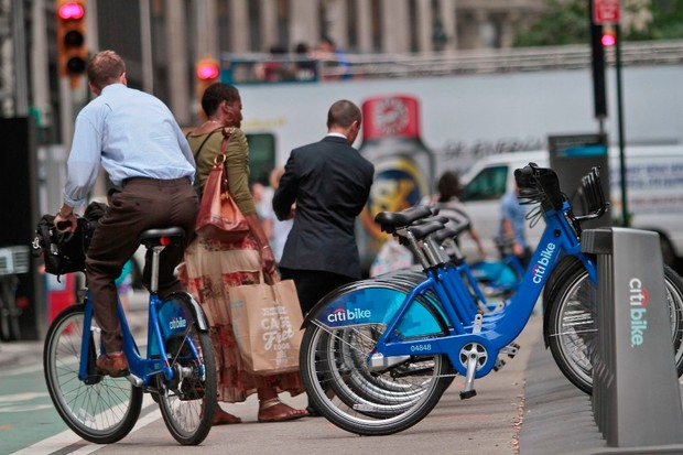 New York launched a bike hire scheme over the summer