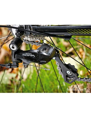 Saracen Tenet 2: The full Sora groupset works well and has a light shifting action