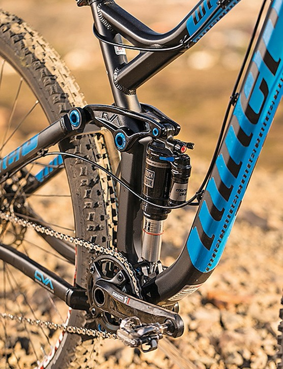 Niner WFO 9 V2: The piggyback Monarch Plus air shock worked in harmony with the RockShox Pike fork our test bike was fitted with