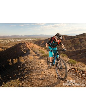 Niner WFO 9 V2: The WFO 9 matches serious downhill speed with surprisingly easy pedalling