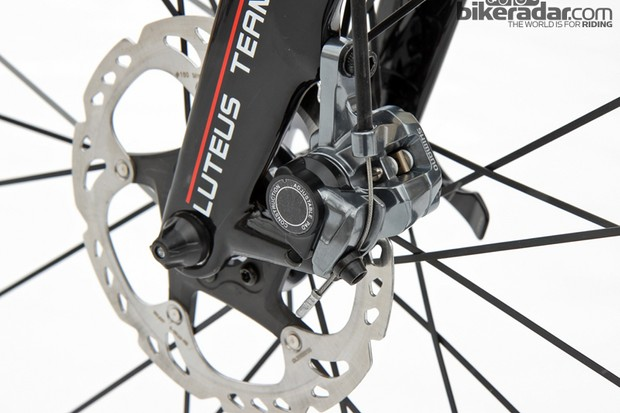 Shimano's top-end mechanical disc brake for cyclocross is the BR-CX77. The industrial aesthetics won't suit everyone but there's little arguing with how well they work