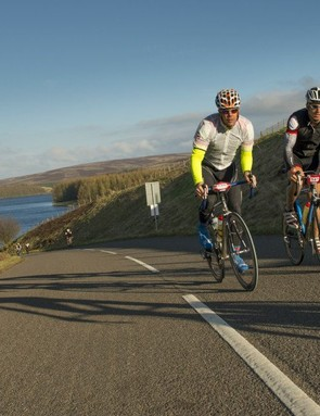 Rat Race Road Trip participants pass Whiteadder Resevoir in the Scottish Borders