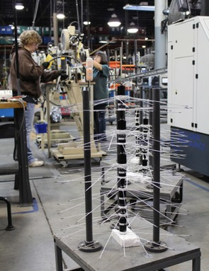 Bontrager builds its mid-range up through to its high-end wheels in Whitewater, Wisconsin
