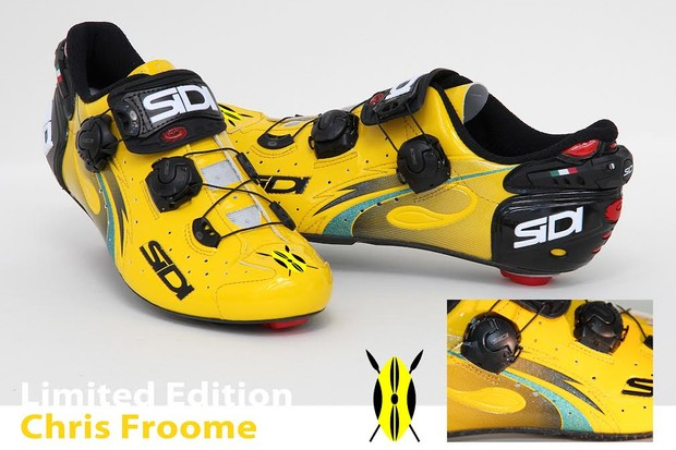 The Froome limited edition Sidi Wire shoes