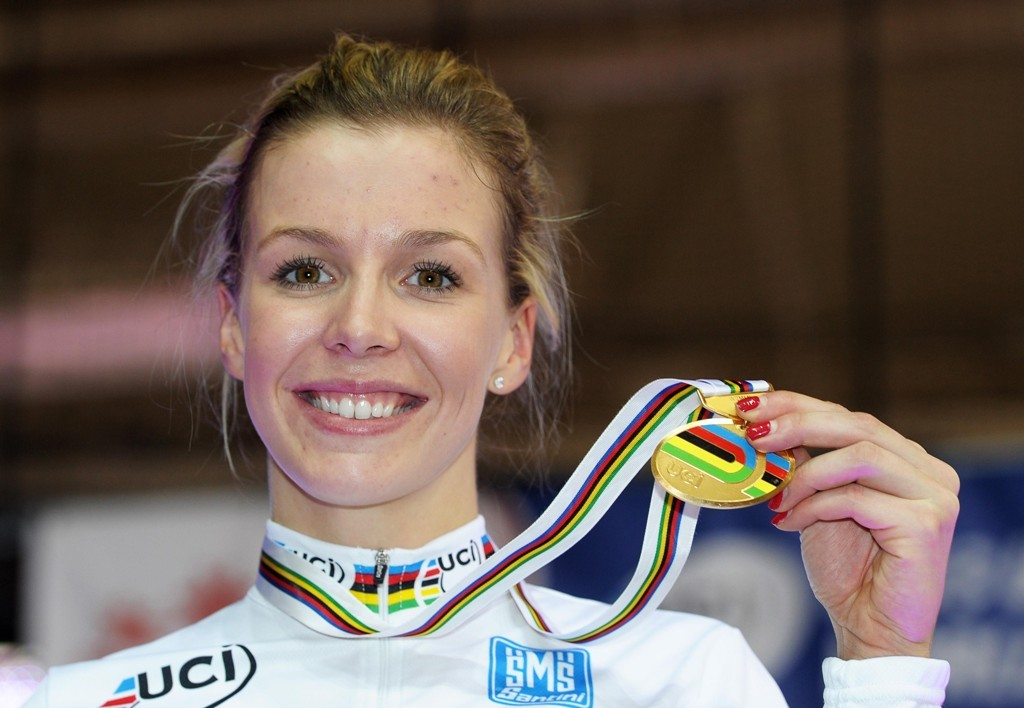 Becky James, shown with her keirin gold medal, has been named Bristish sportswoman of the year