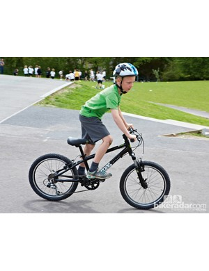 The Frog 60's low weight makes it ideal for younger riders