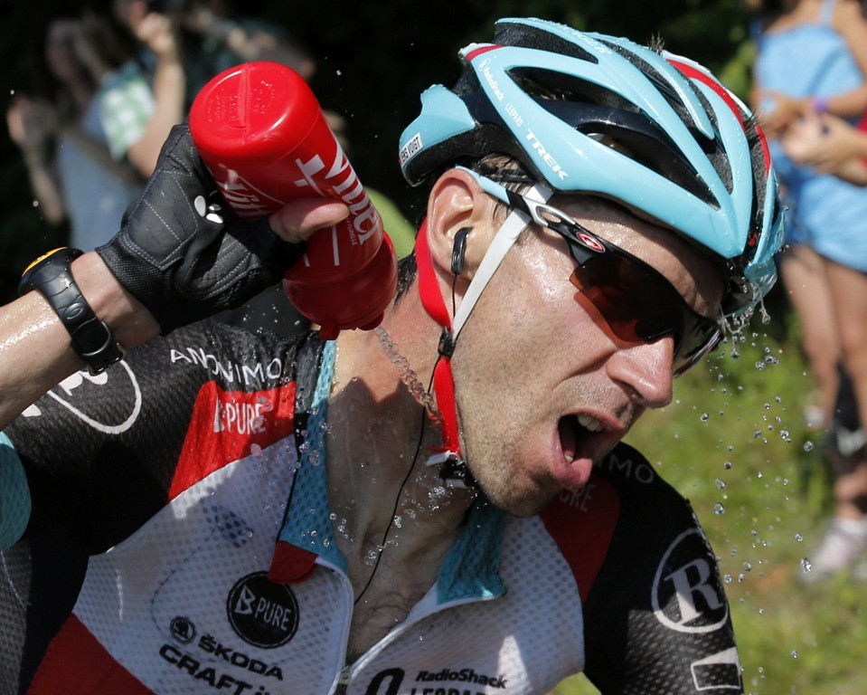 By stage 20 of the 2013 Tour, Voigt was feeling the heat but he needed to carry on