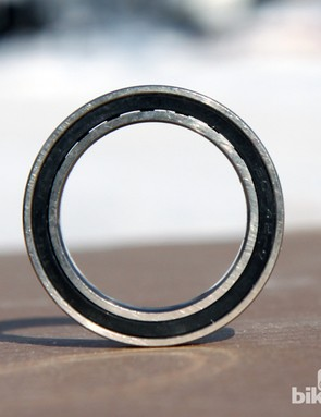 Gold Race's BB30 hybrid ceramic bearings spin with ridiculously low friction. However, they also don't have proper contact seals (yes, you can see right through them) nor do they have any grease inside