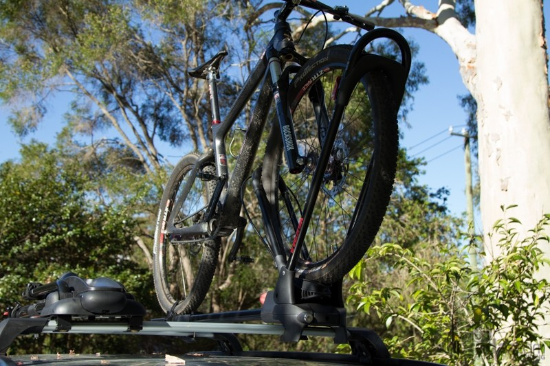 The Yakima FrontLoader will carry just about anything from a 20in kids' bike through to a big all-mountain bike