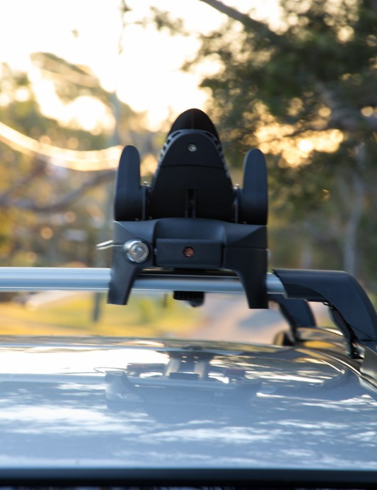 The Yakima FrontLoader isn't the most aero rack, but still manages a low and rather slim profile when not in use