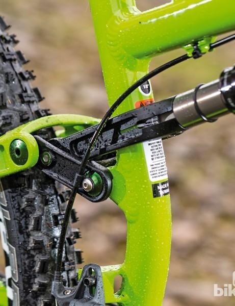 Salsa Horsethief II: The Split Pivot rear suspension provides taught pedalling