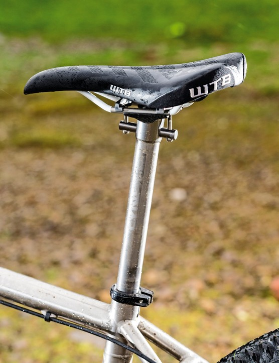 Lynskey Pro650 VF: Lynskey's own titanium seatpost combines comfortable give under stress with enough stiffness to resist unwanted twisting