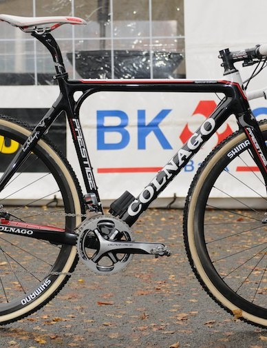 German champion Philipp Walsleben has just one disc-equipped Colnago Prestige at the moment