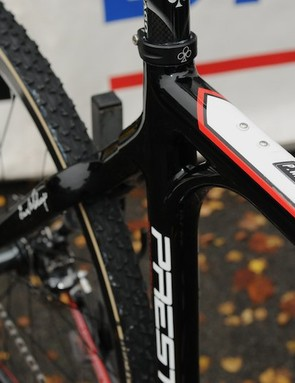 The German champion's bike (or at least this one) doesn't have a celebratory paintjob