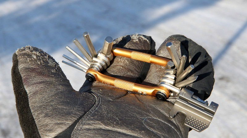 Consider your usual multi-tool: can you operate it with heavy gloves on? If not, think about switching to something else. Tools with interchangeable bits are a big no-no in snowy conditions, too