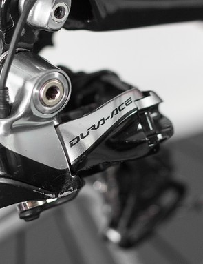 The front and rear mechs are standard Dura-Ace Di2 units