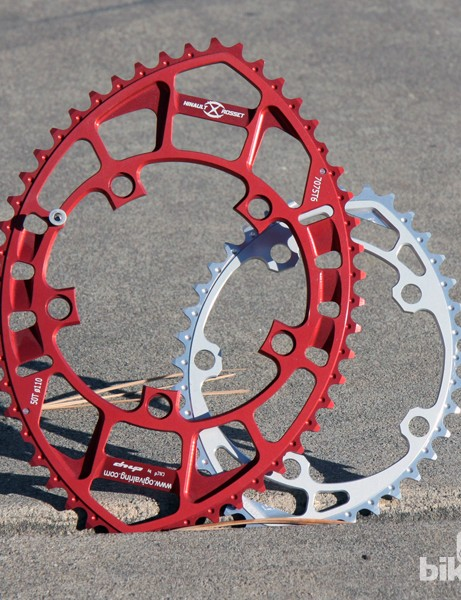 Talk about non-round chainrings! The Rosset Ogival rings are the most radical we've seen