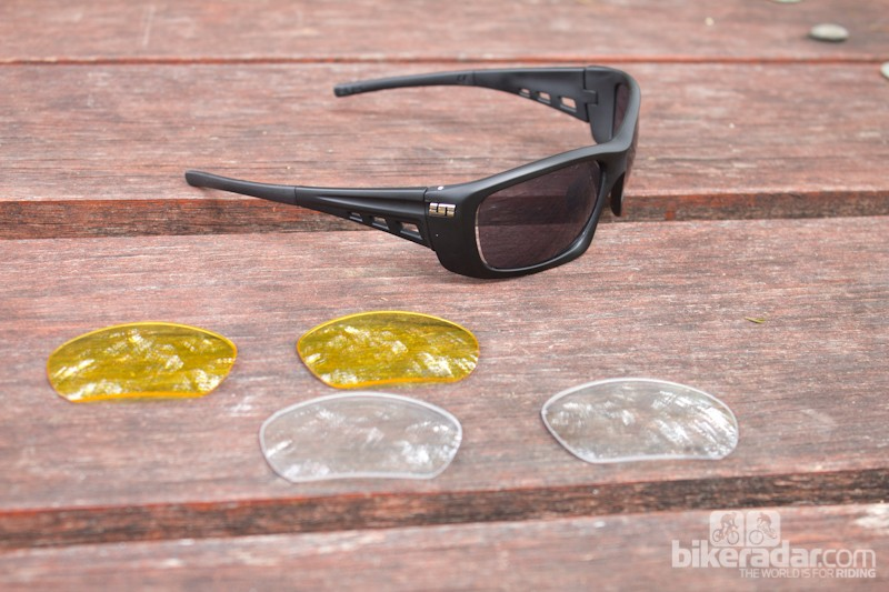 The Turbulance VX comes with three sets of lenses for different conditions