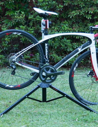 The adjustable height on the Cyclo is quite low - here the bike has come into contact with the ground