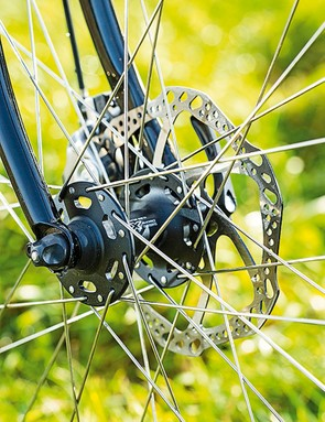 Genesis Equilibrium Disc: you can swap the front disc for a calliper brake, but not the rear