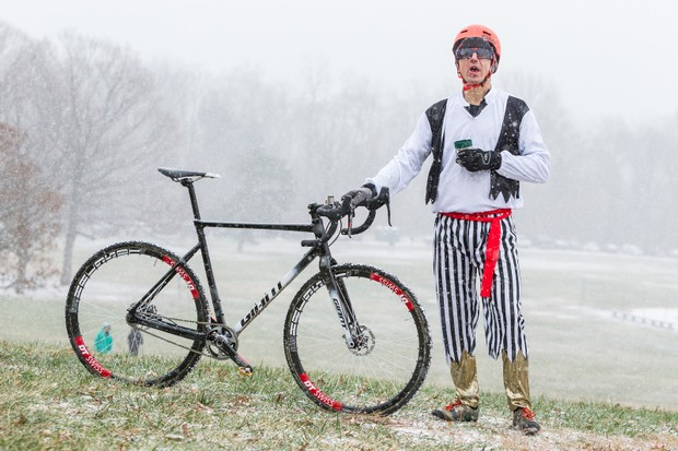 Adam Craig won last weekend's singlespeed cyclocross world championship aboard a prototype Giant TCX SLR - and yes, this is what he wore