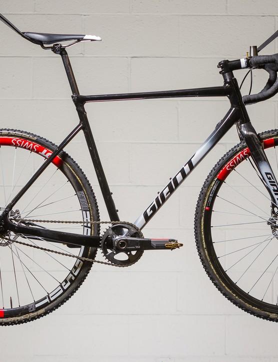Adam Craig rode this prototype Giant TCX SLR singlespeed to victory in Philadelphia last weekend