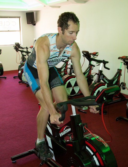 James Land - an intructor at Cycle Studio talks us through many of the Wattbike features