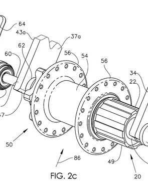 Topolino holds the patent on a similar design for a rear hub, too