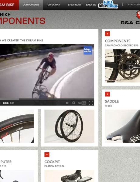 Learn why we picked each part on the Dream Bike website