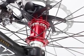 Greg Minnaar V10 replica: Chris King hubs and Shimano Saint brakes with 203mm rotors (front and rear)