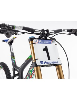 The bike even comes with a replica number plate from Minnaar's win on his home track in Pietermaritzburg, South Africa