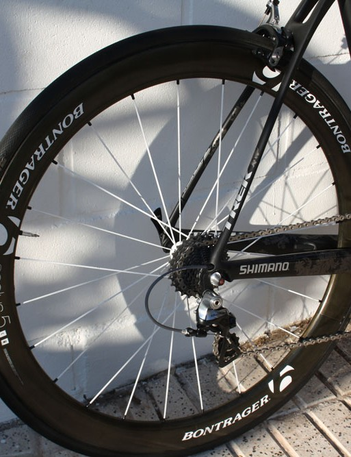 Wheelset: Bontrager Aeolus 5 D3 tubular