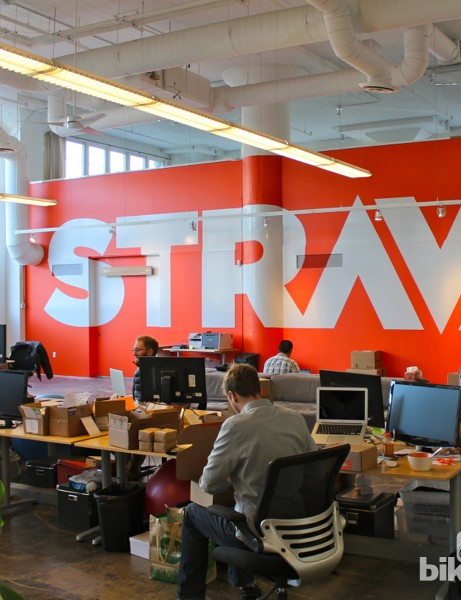Strava bills itself as social fitness technology. Inside Strava headquarters on the east side of San Francisco, those three elements are quite apparent in the company culture