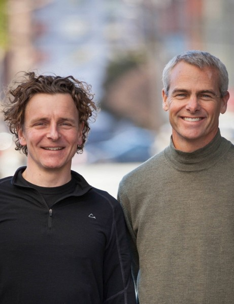 Strava cofounders Michael Horvath (l) and Mark Gainey