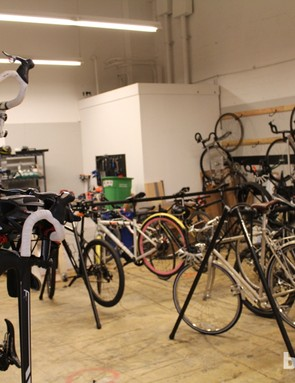 Strava's HQ offers well-used indoor bike parking, with theft being a constant threat in San Francisco