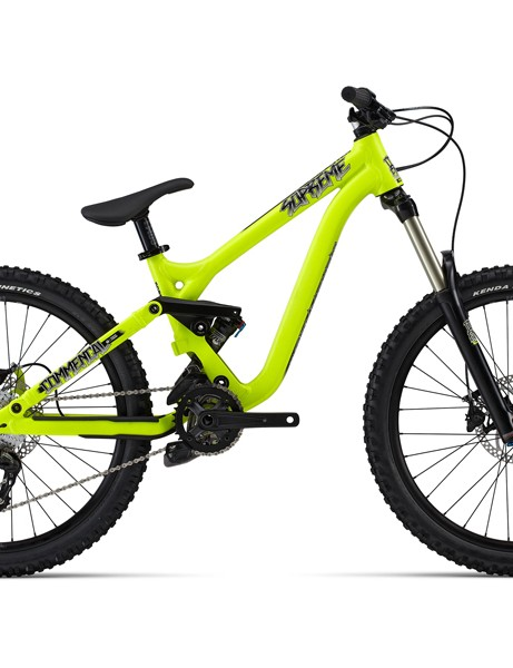The Supreme 24 looks nearly identical to the full-sized model and has 140mm of front and rear suspension