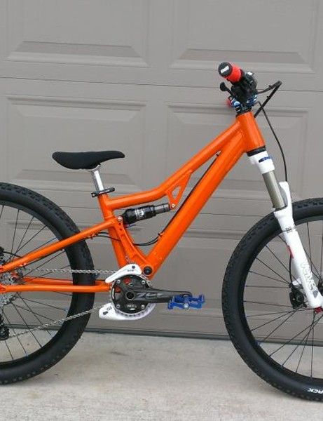 The 24in Phenom has generous standover clearance and retails for US$1,350 for the frame and fork