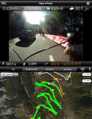 KinoMap is another software that works well with the Kickr, letting you virtually ride roads like Alpe d'Huez