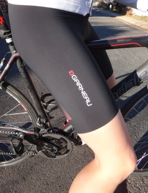 Louis Garneau's smooth legs are create for summer riding but not ideal for hiding knee or leg warmers under