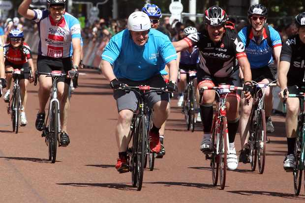 London mayor Boris Johnson was a high profile finisher of the Prudential RideLondon-Surrey 100