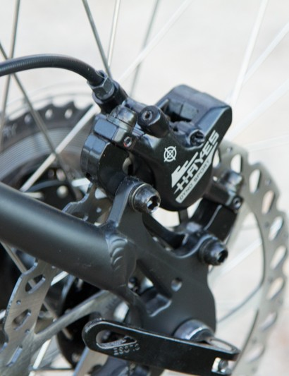 The Hayes Dyno brakes are functional and sufficient, but their performance pales in comparison to more expensive options