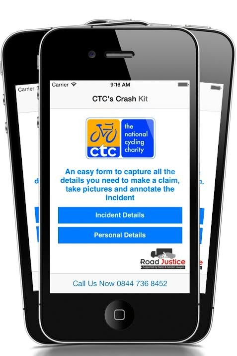 The CTC have launched an Crash Kit app to help cyclists record key details if they decide to fight for justice in the courts