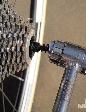 The Abbey Bike Tools Crombie has a hollowed-out head that fits over most quick-release skewers