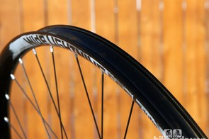 While the American Classic Wide Lightning's monstrous 29.3mm-wide rim seems perfect for enduro, the company says the thin extrusion makes it more ideally suited for cross country use